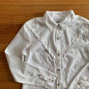 GAP New Western Bib Button Down Blouse